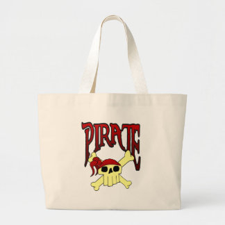 pirate skull and crossbones toon canvas bags