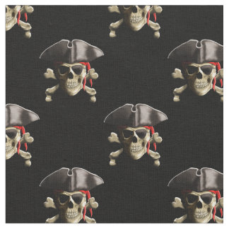 Pirate Skull And Hat Fabric