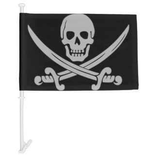 Pirate Skull and Swords Car Flag