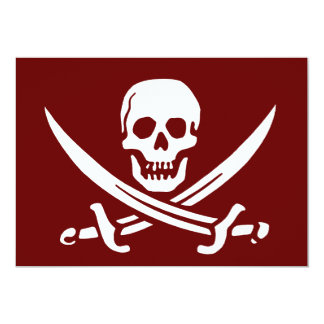 Pirate Skull and Swords,Jolly Roger Card