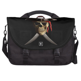 Pirate Skull And Swords Laptop Computer Bag