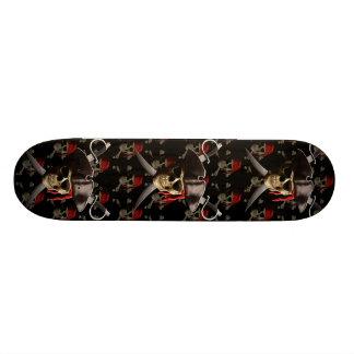 Pirate Skull And Swords Skateboard Deck