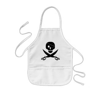 Pirate Skull Apron for Kids