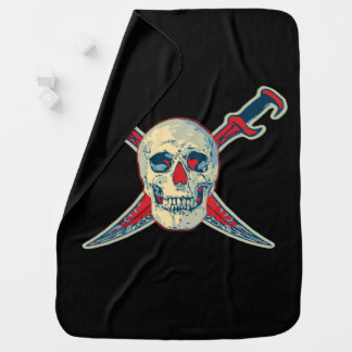 Pirate (Skull) - Baby Blanket Buggy Blankets