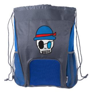 Pirate Skull Backpack Drawstring Backpack
