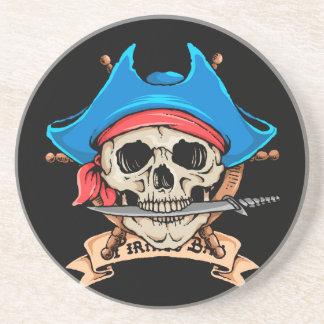 Pirate Skull Biting Knife Coaster
