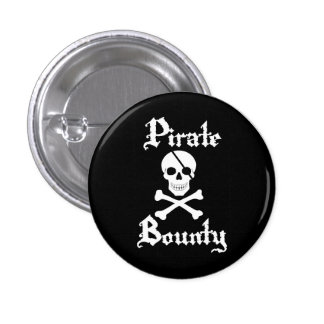 Pirate Skull & Crossbone Button