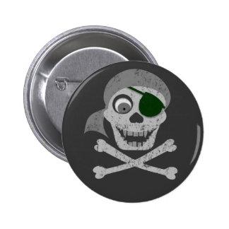 Pirate Skull & Crossbones Buttons