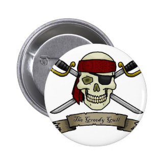 pirate-skull-crossbones-jolly-roger-coloring-page 6 cm round badge