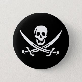 Pirate Skull Crossed Swords Jolly Roger Flag 6 Cm Round Badge