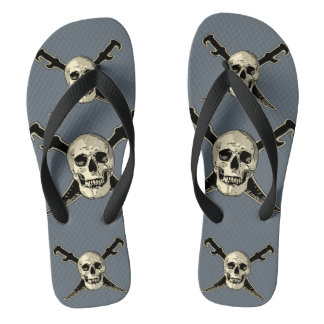 Pirate (Skull) - Custom Adult, Wide Straps Thongs