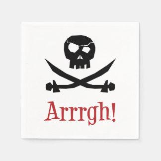 Pirate Skull Disposable Serviette