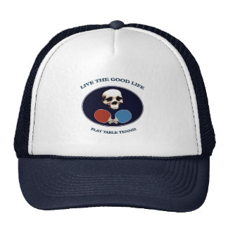 Pirate Skull Good Life Table Tennis Mesh Hats