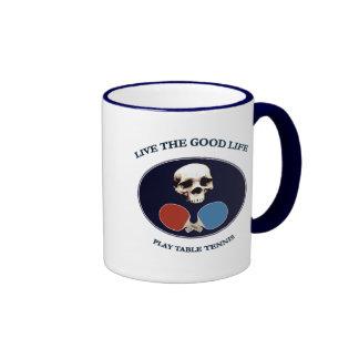 Pirate Skull Good Life Table Tennis Coffee Mug