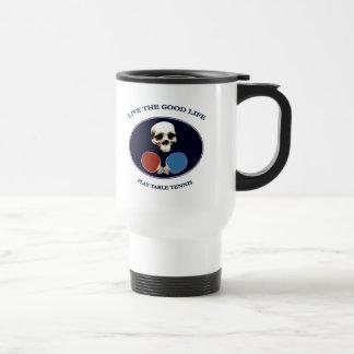 Pirate Skull Good Life Table Tennis Mugs