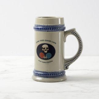 Pirate Skull Good Life Table Tennis Mug