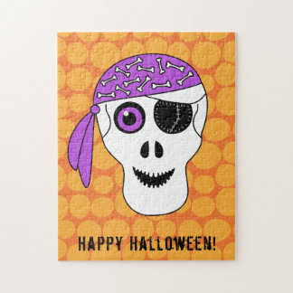 Pirate Skull Happy Halloween Jigsaw Puzzle
