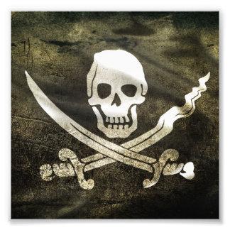 Pirate Skull in Cross Swords Photo Art