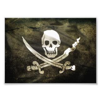 Pirate Skull in Cross Swords Photo Print