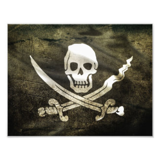 Pirate Skull in Cross Swords Photograph