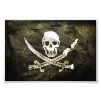 Pirate Skull in Cross Swords Photographic Print