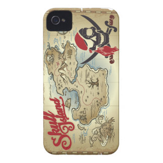 Pirate Skull Island Location Map Case-Mate iPhone 4 Cases