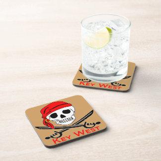 Pirate Skull Key West Coaster