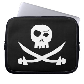 Pirate Skull Laptop Computer Sleeves