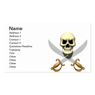 Pirate Skull Pack Of Standard Business Cards