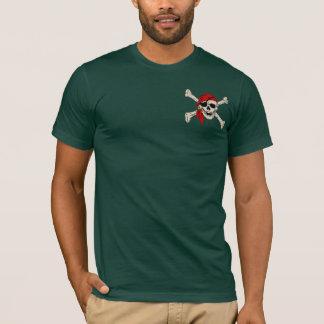 Pirate Skull Red Bandana T-Shirt