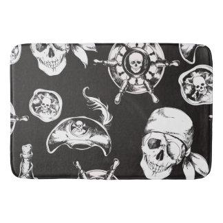 Pirate Skull Ship Wheel Bath Mat