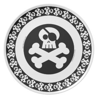 Pirate Skull - Skeletica's Character Series Party Plate