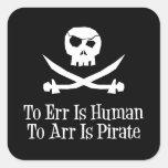 Pirate Skull Square Sticker