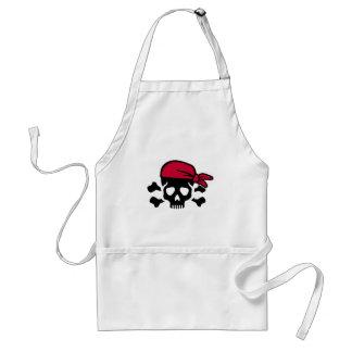 Pirate skull standard apron