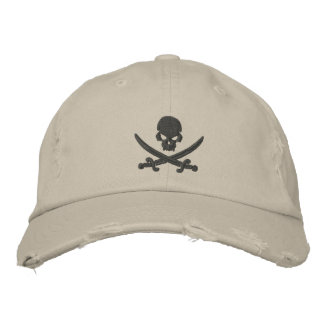 Pirate Skull Swords Embroidered Hat
