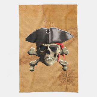 Pirate Skull Tea Towel