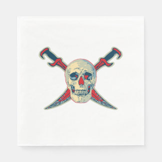 Pirate (Skull) - White Standard Luncheon Paper Na Disposable Serviettes