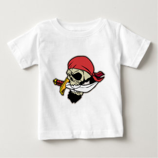 Pirate Skull with Knife Baby T-Shirt