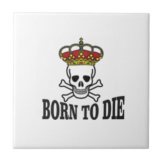pirate slogan small square tile