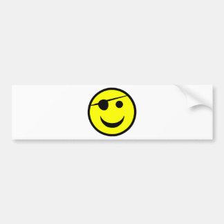 Pirate Smiley Bumper Stickers