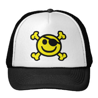 Pirate Smiley Cap