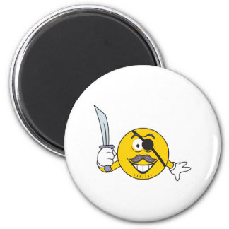 Pirate Smiley Face Fridge Magnets