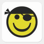 Pirate Smiley Sticker