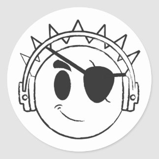 Pirate Smiley Sticker