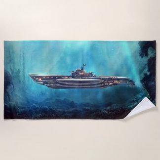 Pirate Submarine Beach Towel