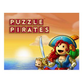 Pirate Sunset postcard