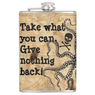 Pirate Take What You Can Flask