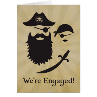 Pirate Themed Engagement Announcement with Pirates