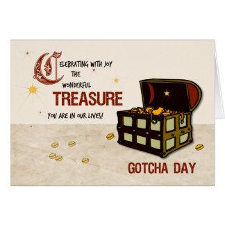 Pirate Treasure Gotcha Day, Boy Card