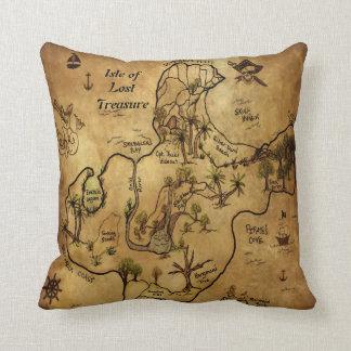 Pirate Treasure Map Cushion
